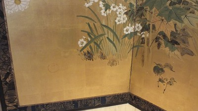 FINE JAPANESE FOLDING SCREEN (5)