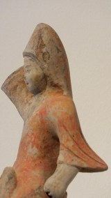 Painted Red Pottery Equestrian Figure (5)