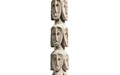 Rare Lega Several Heads Figure