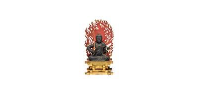 Highly Important Wood Sculpture Fudo Myo-o (Acala) (1)