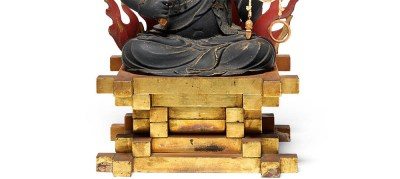 Highly Important Wood Sculpture Fudo Myo-o (Acala) (5)