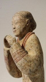 Extremely Rare Pottery Kneeling Entertainer (6)