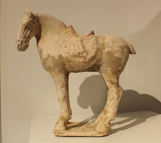 Painted Red Pottery Saddled Horse (7)
