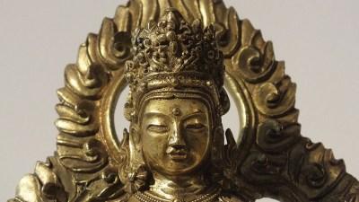 Gilt Bronze Figure of Amitayus (9)