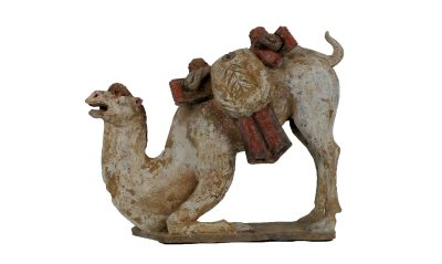 Large Tang Dynasty Crouching Bactrian Camel (2)
