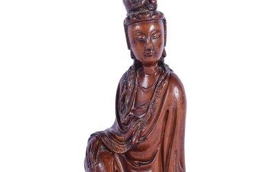 Fine Chinese Boxwood Guanyin