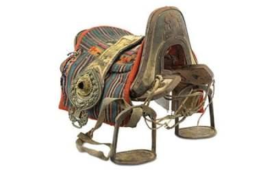 Shagreen Lacquered Wood Saddle