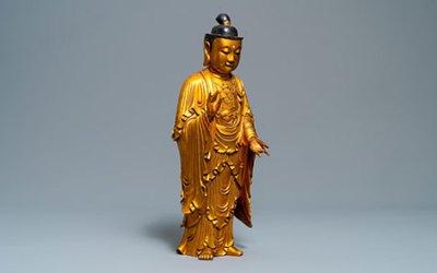Chinese Gilt Wood Buddha