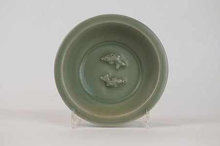 Small Longquan Celadon Twin-Fish Dish