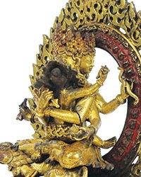 Large Gilt-Bronze Vajrasattva