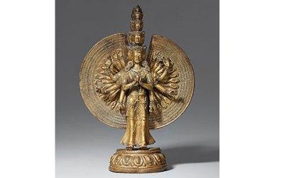 Tibetochinese Gilt Bronze Avalokiteshvara