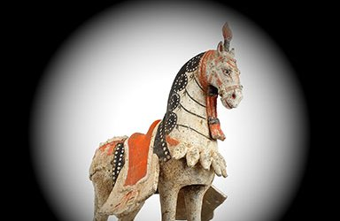 Large Standing Caparisoned Horse