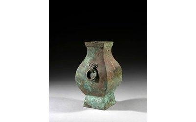 Magnificent Bronze Vase Hu