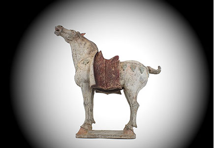 Tang Neighing Pottery Horse