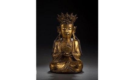 Rare Gilt Bronze Suryabraha