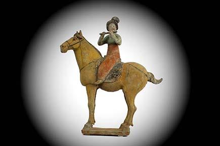 Fabulous Pottery Equestrian Musician