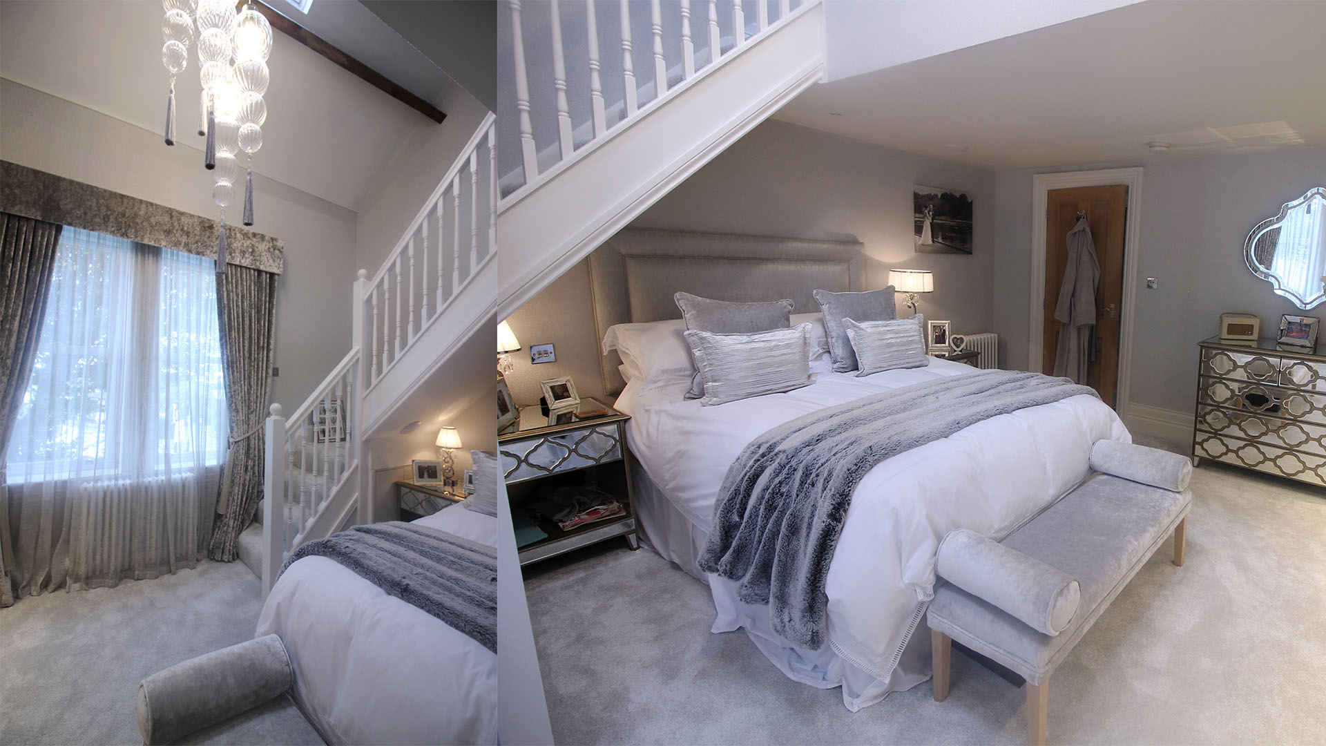 Master bedroom interior design Leeds