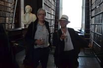Gerald Dawe and Darryl Jones at the opening reception