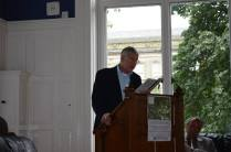 Barry McGovern speaking at the welcome event