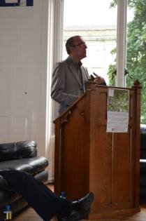 Chris Morash speaking at the welcome event