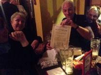 The winners of the Beckett pub quiz!