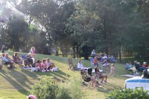 Visitors on Becketwood lawn - Band Concert