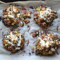 Pecan and Cheese Stuffed Mushrooms
