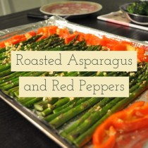 Roasted Asparagus and Red Peppers