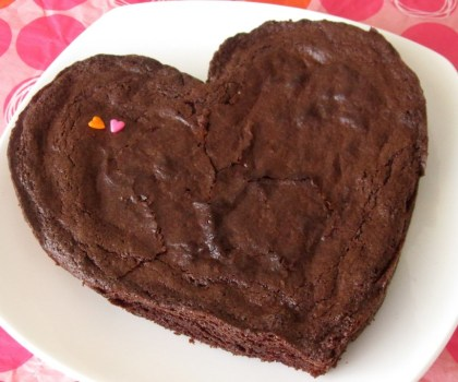 Brownie Heart Cake