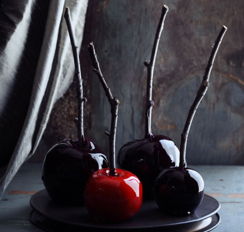 Adam's Scary Red & Black Candy Apples