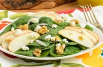 "Spinach Apple ""Bleus"" Salad"