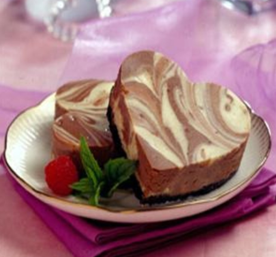 Marbled Cheesecake Hearts