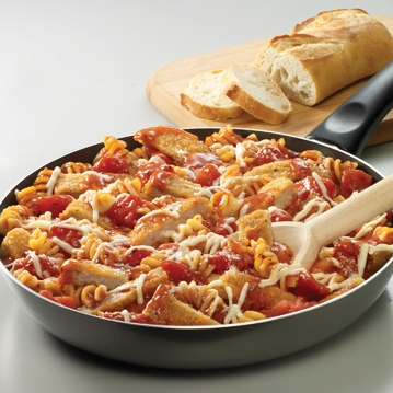 Skillet Chicken Parmesan with Pasta