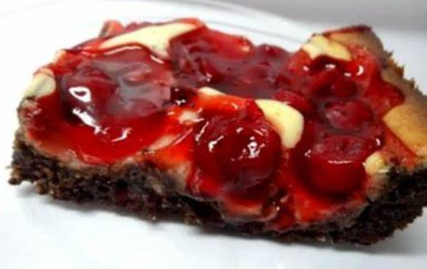 Cherry-Topped Brownie Dessert Squares