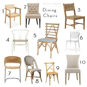 dining room chairs becki owens