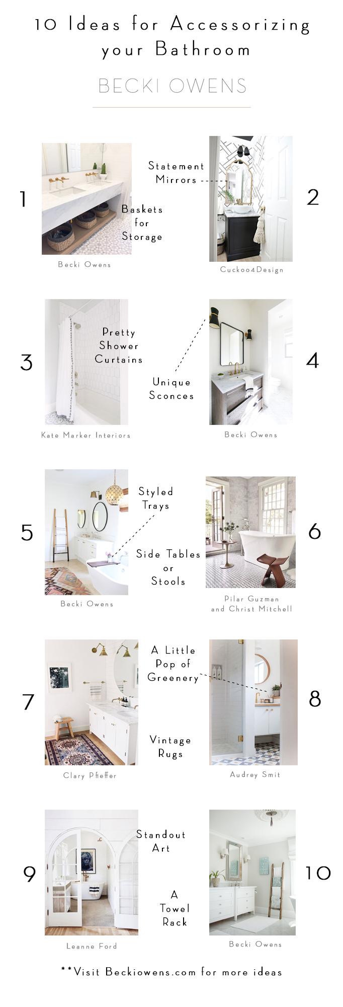 10 ideas for accessorizing your bathroom