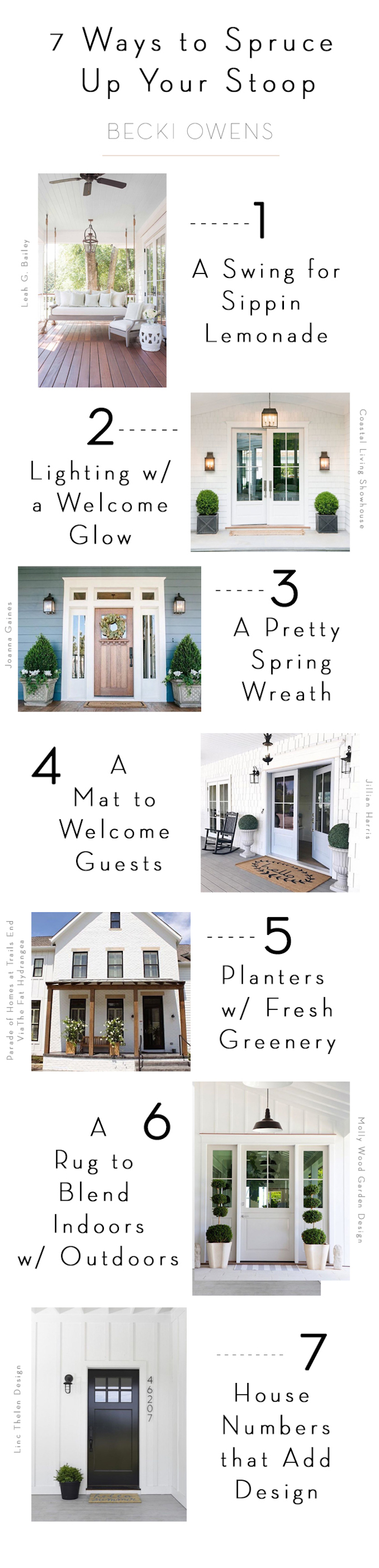 7 ways to spruce up your stoop