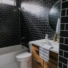 Black Tile Bathroom Styling w/ The Home Depot