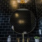 Project Reveal: Modern Black Tile Bathroom
