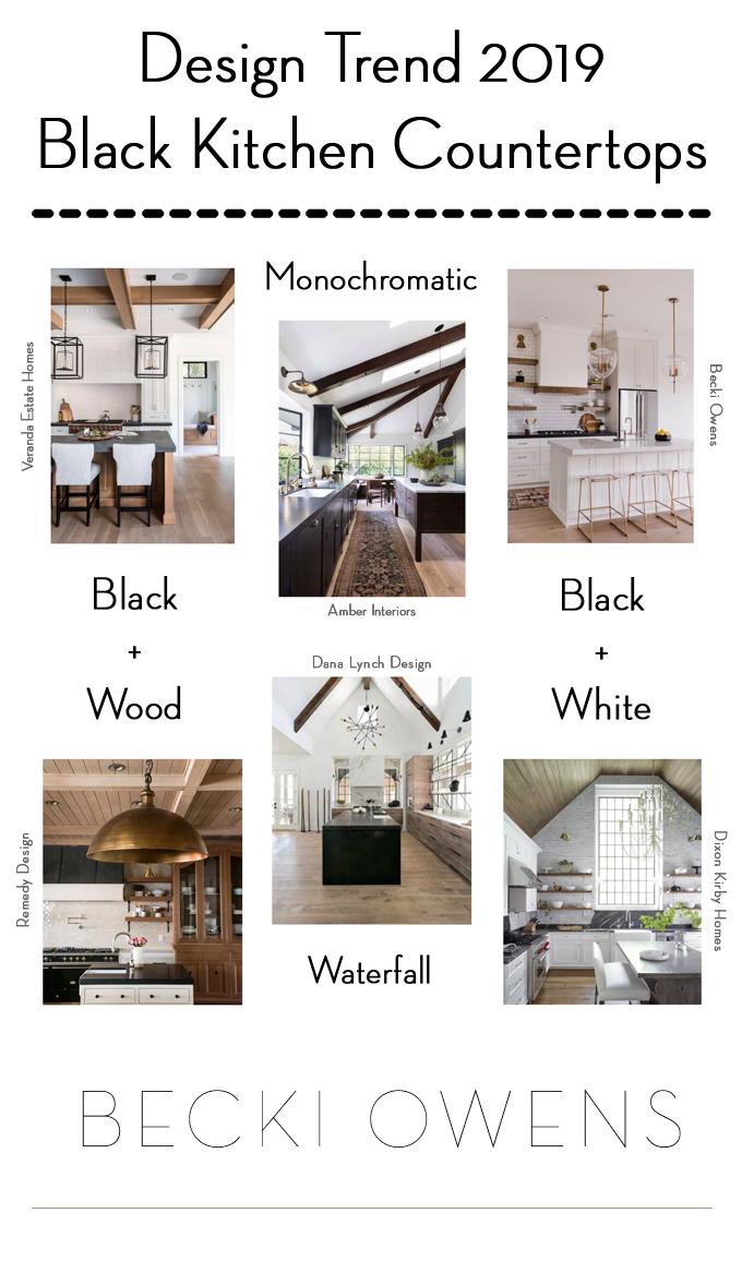 2019 Design Trend Black Kitchen Countertops