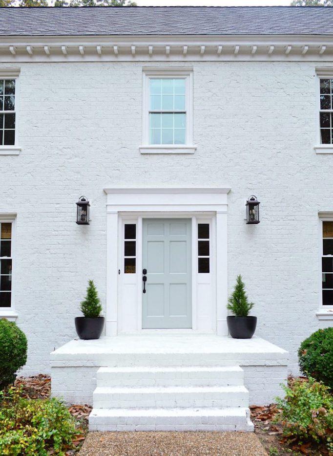 Q A White Painted Brick Exteriors Becki Owens