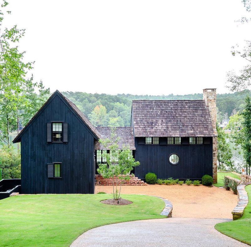 Black lake house
