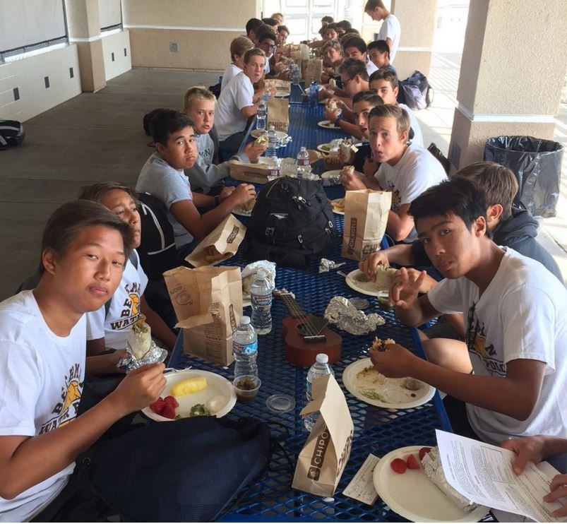 Hungry water polo players!