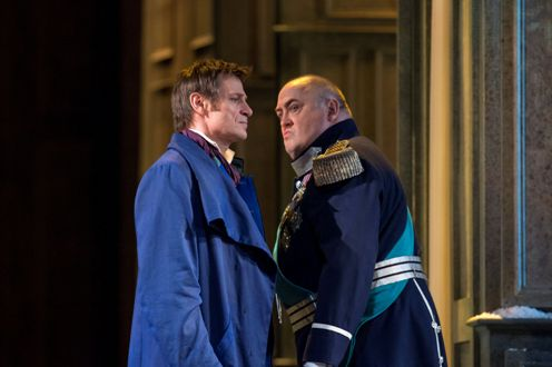 Simon Keenlyside (Onegin) and Peter Rose (Gremin) © Bill Cooper/ROH