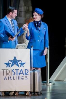 George von Bergen (Steward) and Kitty Whately (Stewardess) © Robert Workman