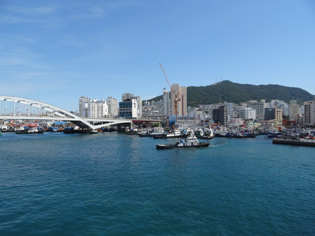A picture of Busan in South Korea