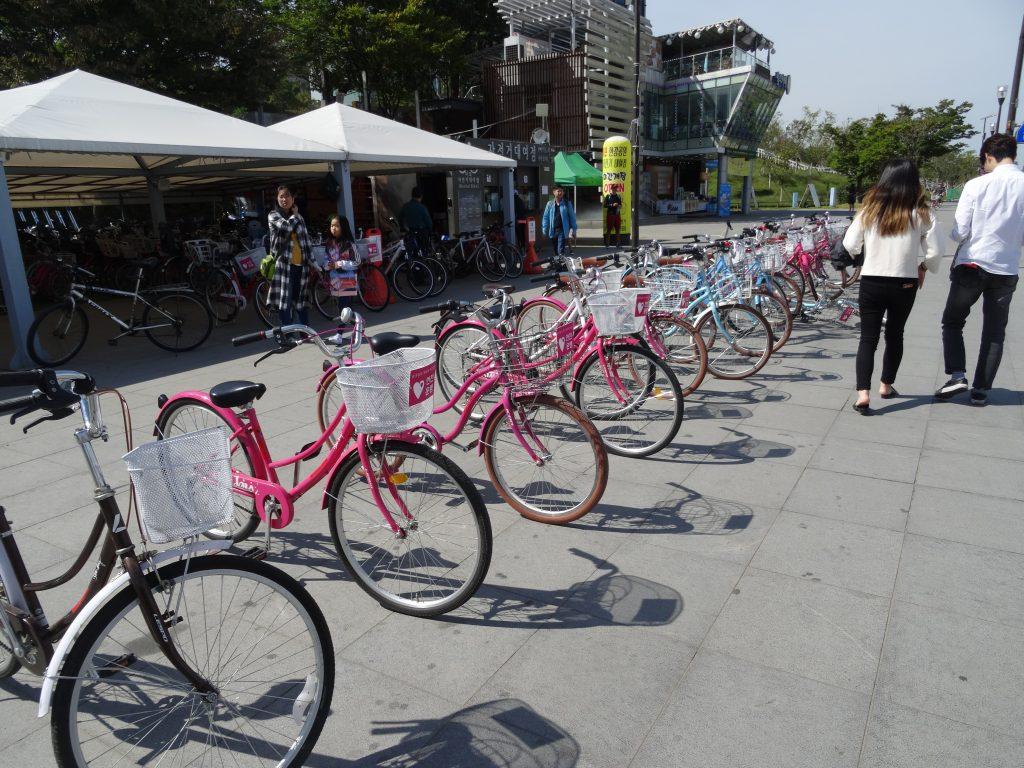 Renting bikes in Seoul