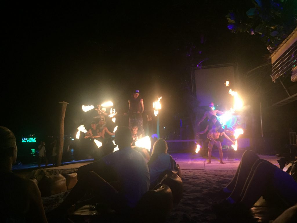 The fire show on Koh Phi Phi Island in Thailand