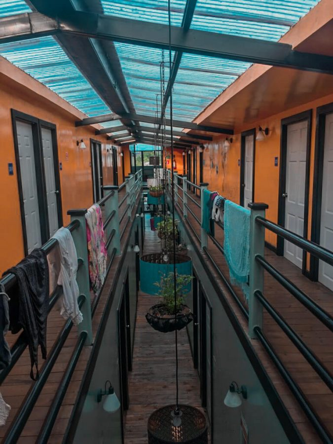 Hallway of Selina Hostel in Bocas del Toro, Panama
