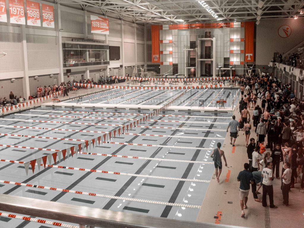 The pool of the University of Tennessee in Knoxville